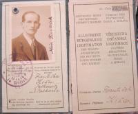 Protektorátní legitimace otce Františka Kiši