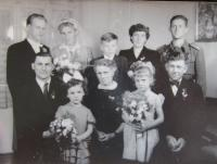 Wedding photography of Mr. and Mrs. Kirchner (top left)