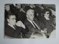 In the audience with Jiří Horčička, Eduard Cupák a Josef Melč