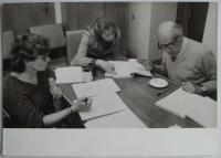 Jitka Borkovcová (left) and Josef Červinka (right) on reading test