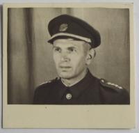 Father Josef Januš in uniform