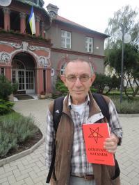 Jaroslav Haidler With His Book