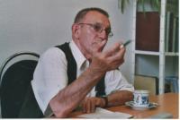 Jaroslav Haidler in Editorial Office of Daily Průboj in 90th