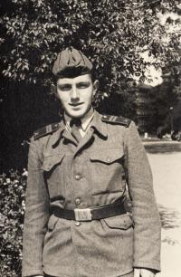 Jaroslav Haidler in the army