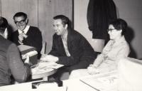 Jaroslav Haidler with his friedns