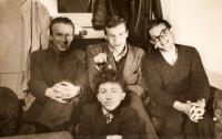 Jaroslav Haidler - photo with his friends