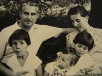 Vlasta Černá as a child with her family