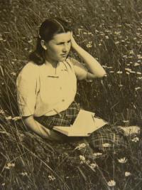Vlasta Černá as a young girl