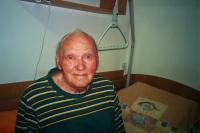 Ing. Karel Pudil in the home for old people, Otín, Jindřichův Hradec