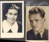 Karel a Jarmila Pudilovi as a young couple