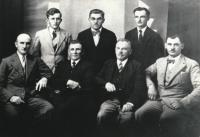 Grandfather Josef Vlk, first row second from right, with editorial board of Hlas Volyně magazine