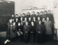 School in Luck, Dobromila in the second row second from right