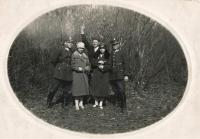 Father Václav Vlk, first from left, 1928