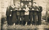 Grandfather Josef Vlk with his childre, Dobromila´s father second from right