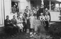 Family photograh, 1933, Dobromila as a baby
