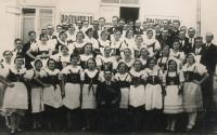 Vladislav Vlk, uncle, with his choir in Boratín