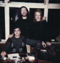 Ivan Landsmann, Jaroslav Hutka and Dana Hutková (Rotterdam, 1985)