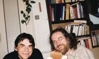 Ivan Landsmann and Jaroslav Hutka in Prague