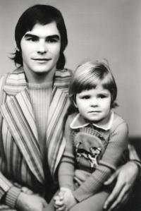 Ivan Landsmann and His Older Daughter Eva (Karviná, ca. 1974)