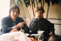 Ivan Landsmann and Marcela, Jaroslav Hutka's Sister-in-law (Rotterdam, 1980s)