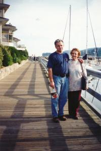 Ivan Landsmann's Brother Petr and His Mother in Canada