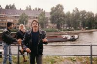 Ivan Landsmann, His Daughter Eva and Her Boyfriend Tony (Rotterdam, 1999)