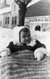 Jana Andrlíková as a one-year old baby