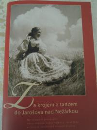 Olga Bojarová as a little girl in folk costume from South Bohemia