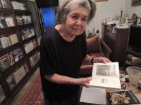 Olga Bojarová with her book 'Vraní svatby' (Crows' Weddings)