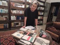 Olga Bojarová with her books