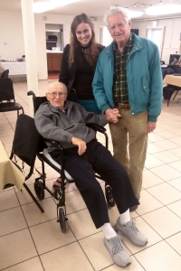 With Frank Schultz, Korea War veteran, young Czech scouth that crossed the line to the West