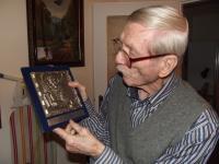 Antonín Kachlík with the award from the Venice film festival for the film Bajaja