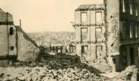 Wuppertall after air raids