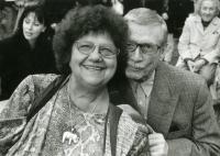 Antonín Kachlík with actress Helena Růžičková