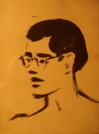 Hugo Engelhart's Portrait Made by a Fellow Prisoner