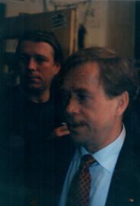 Jiří Chmel with Václav Havel