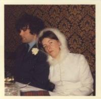 Denise a Peter Beaton, svatební den, Vánoce 1971