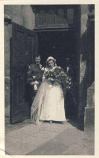 Svatba Trudy a Boba, Opava, 12.6.1945