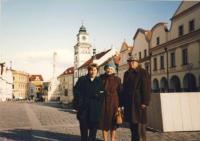 Denise s Bedřiškou a Jožkou, žili v domově důchodců, Opava 1996