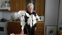 Anna Tesařová in her kitchen