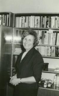 Anna Tesařová-Koutná back at home after her return from prison