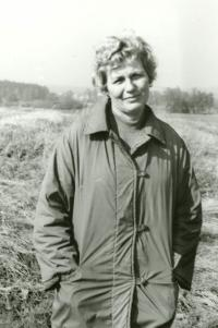 Anna Tesařová - Koutná after her return from the prison