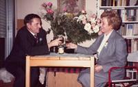 J. Tesař and A. Tesařová - wedding - 1986