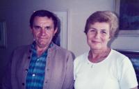 J. Tesař and A. Tesařová in Paris, 1980s