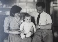 Blanka Andělová with parents