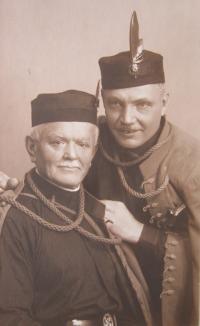 Grandpa Jan Prokeš in sokol dress