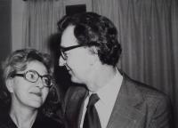Věra with her husband Erich Herold