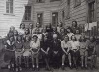 Class photo from the grammar school in Dušní Street