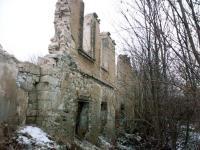Ruins of the Pfaffenhofs outbuilding, where Emília Gáboríková and her group were living