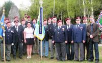 František Antl (sixth from the right) during veteran event in Ořechov near Telč (2013)